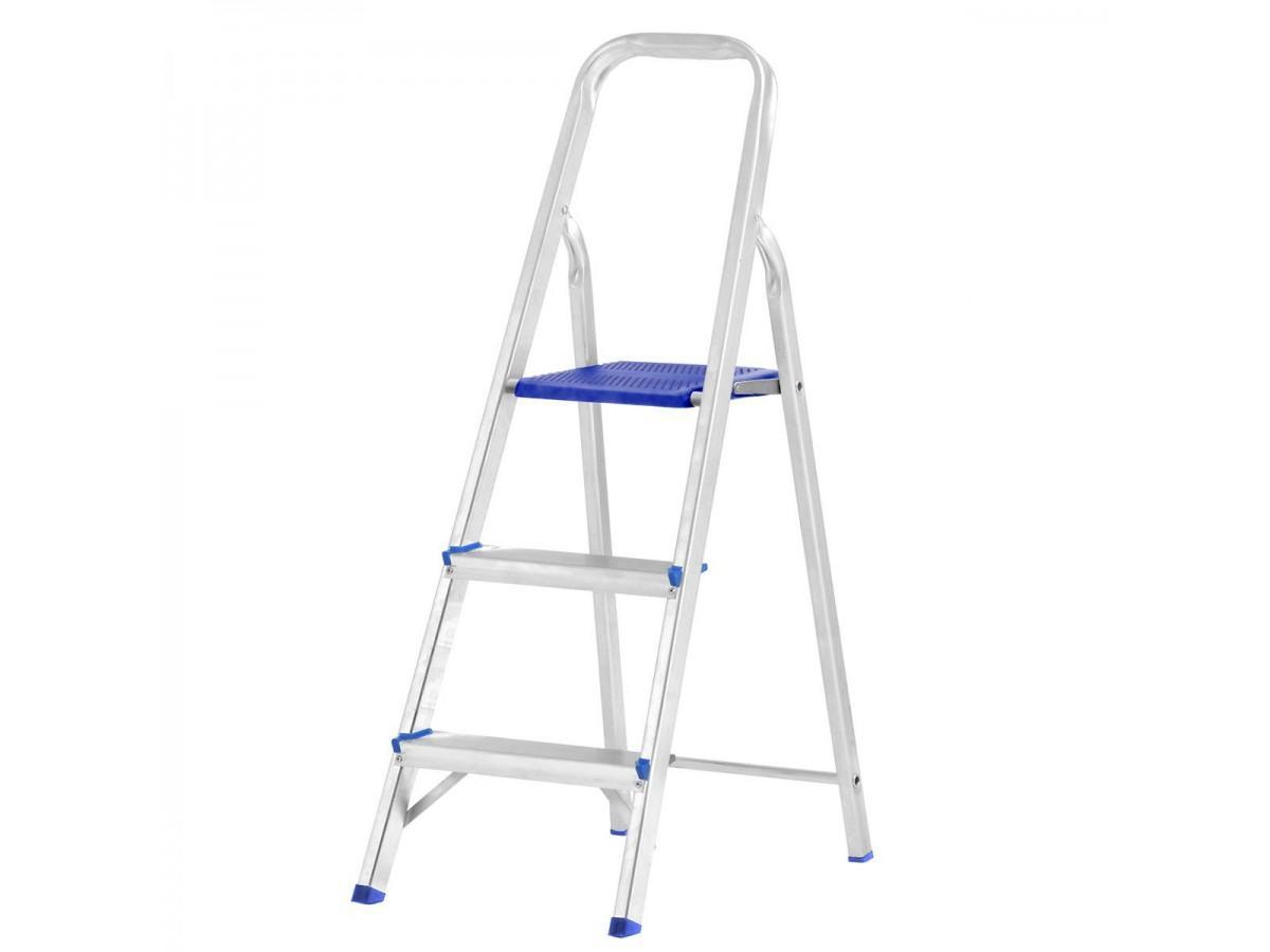 Escada Alumínio Prima 3 Degraus 120 kg