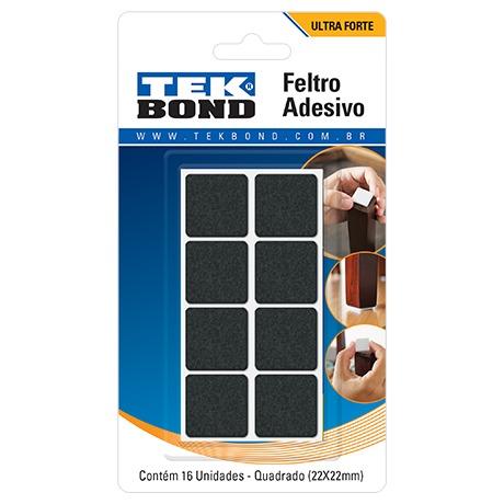 Feltro Tekbond Quadrado 22mm Preto