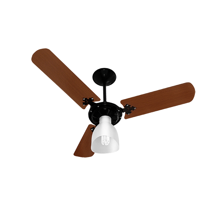 Ventilador de Teto Venti-Delta New Light Preto com Mogno