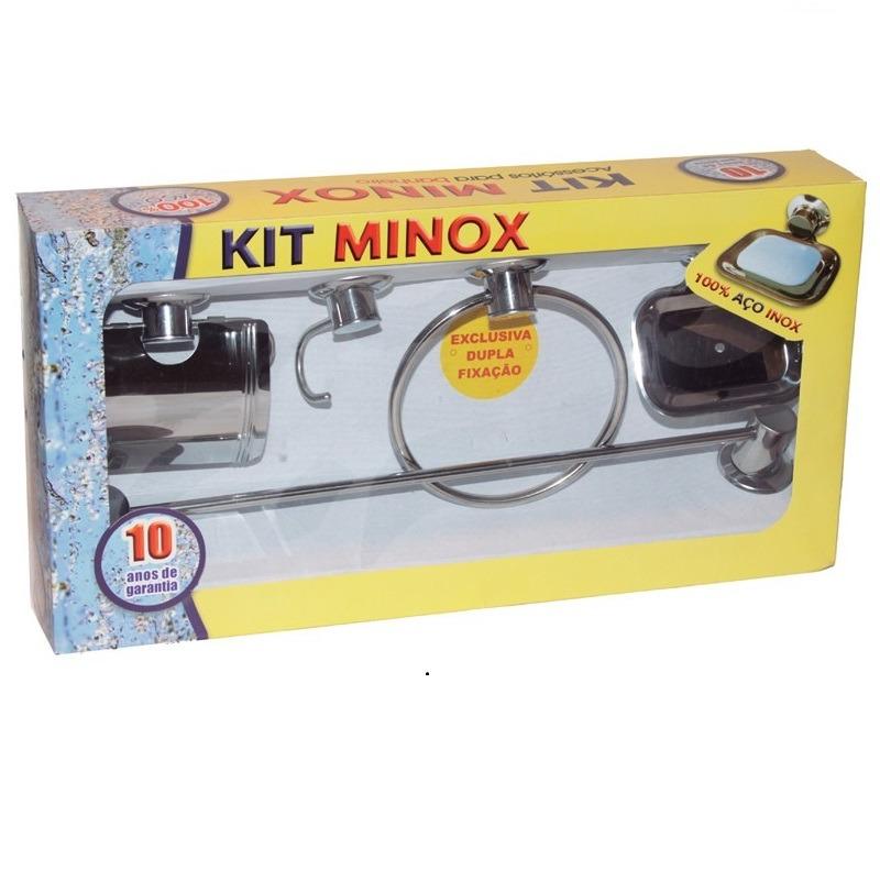 Kit Banheiro Minox 5 Peças