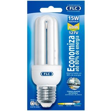 Lâmpada Eletrônica Fluorecente Branca FLC 15W 2U 127 V