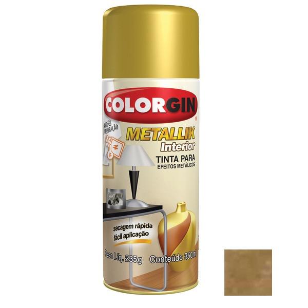 Tinta Spray Efeito Ouro Metálico Colorgin 235gr