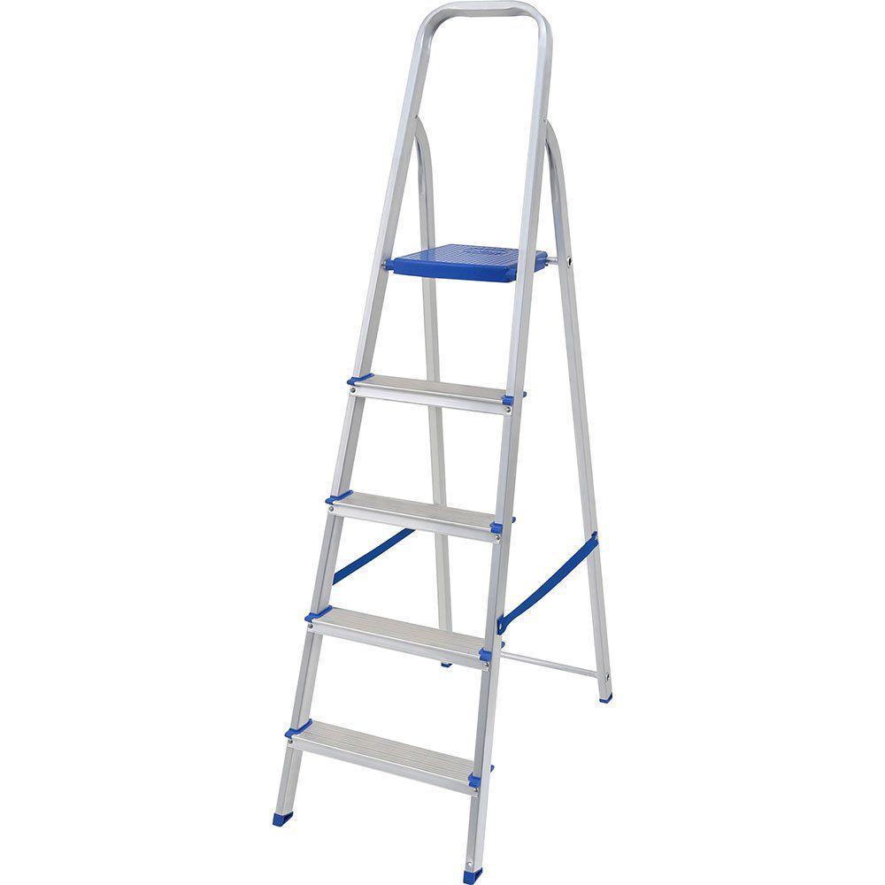 Escada Alumínio Prima 5 Degraus 120 kg