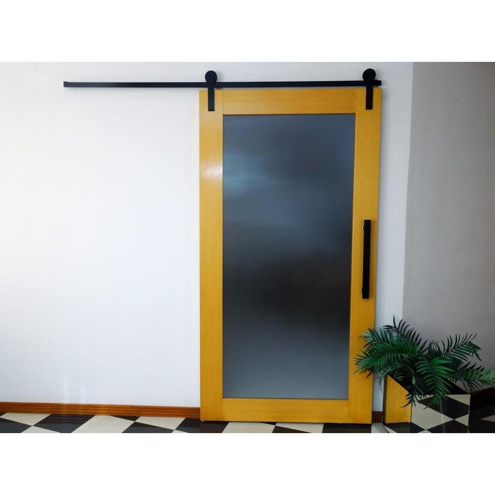 Kit Geris Perfil para Porta de Madeira Alumina Black