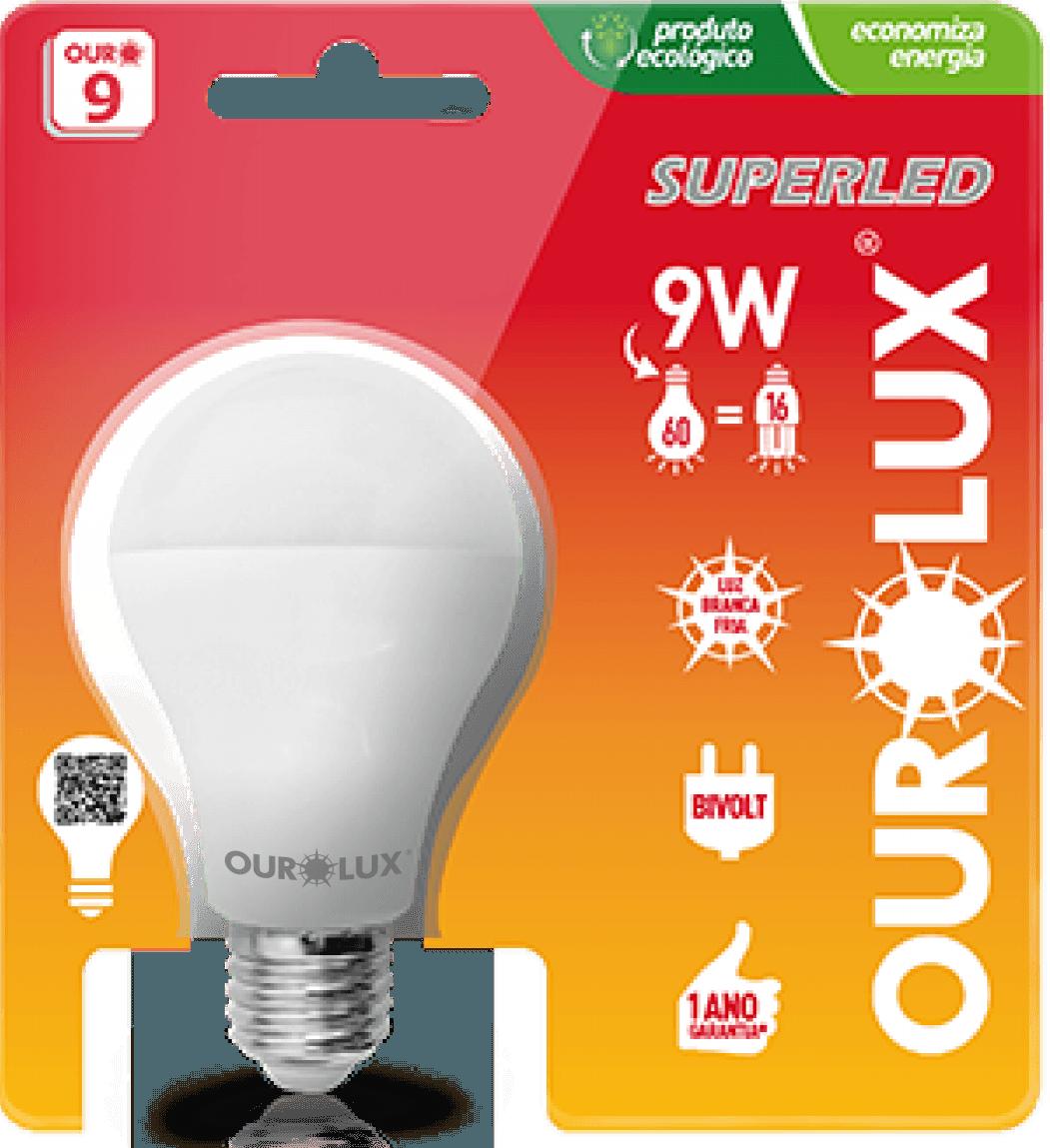 Lampada Led Bulbo Ourolux 9 W Branca 6400k