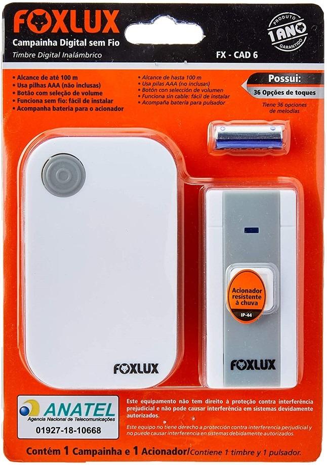 Campainha sem Fio Foxlux – COD: 15497