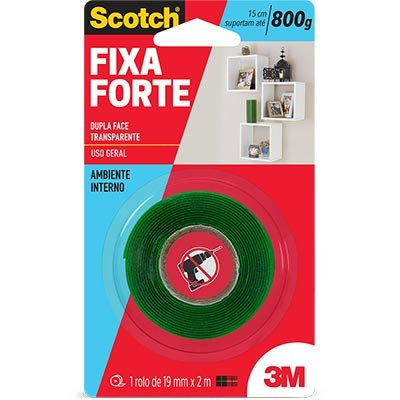Fita Dupla Face 3M 19mm x 2mt Transparente – Cod: 14112