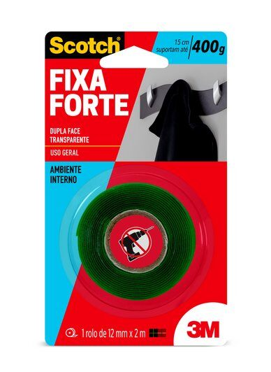 Fita Dupla Face 3M 12mm x 2mt – Cod: 23263