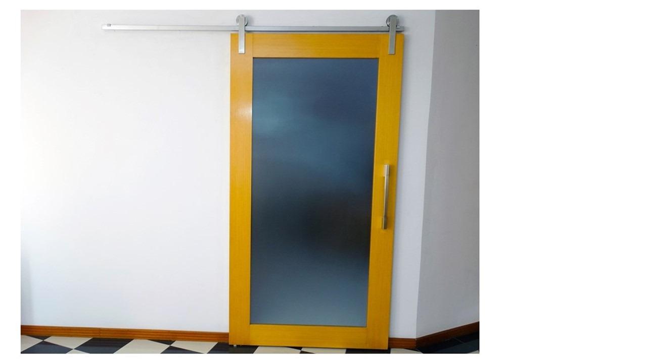 Kit Geris ECO para 1 porta de madeira em INOX Escovado