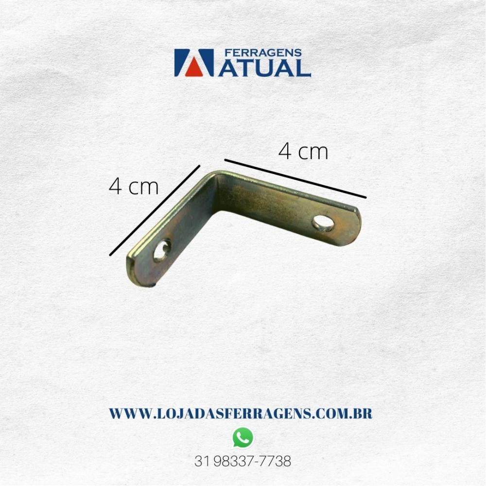 Cantoneira 4 x 4 cm zincada – 10 peças